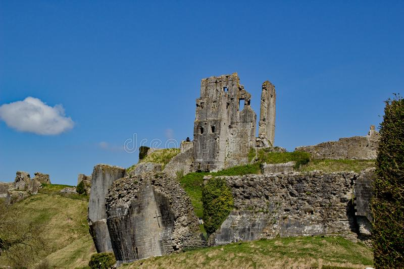 corffe castle isle of purbeck dorset england royalty free stock photo