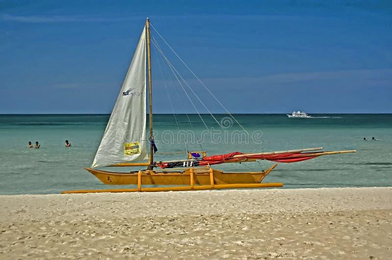 Beachedkraanbalk, Boracay-Eiland, Filippijnen royalty-vrije stock fotografie