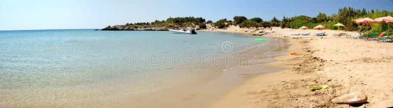 Beaches. The beach of South Crete. A typical Mediterranean beach royalty free stock photo