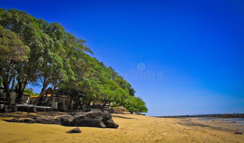 Beaches along the coast in El Salvador. Beaches in the sun in El Salvador royalty free stock photos