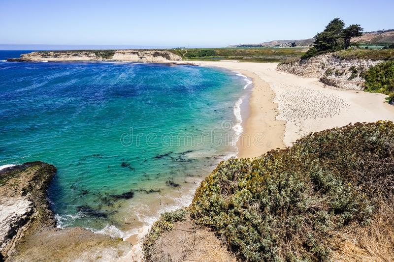 Beaches and cliffs on the Pacific Coast, Wilder Ranch State Park, Santa Cruz, California stock images