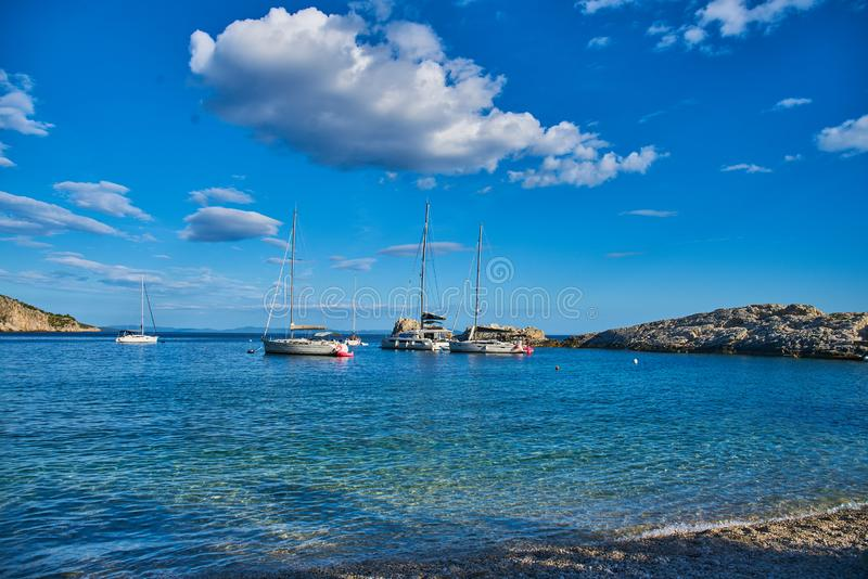 Beaches of Hvar, Croatia royalty free stock images