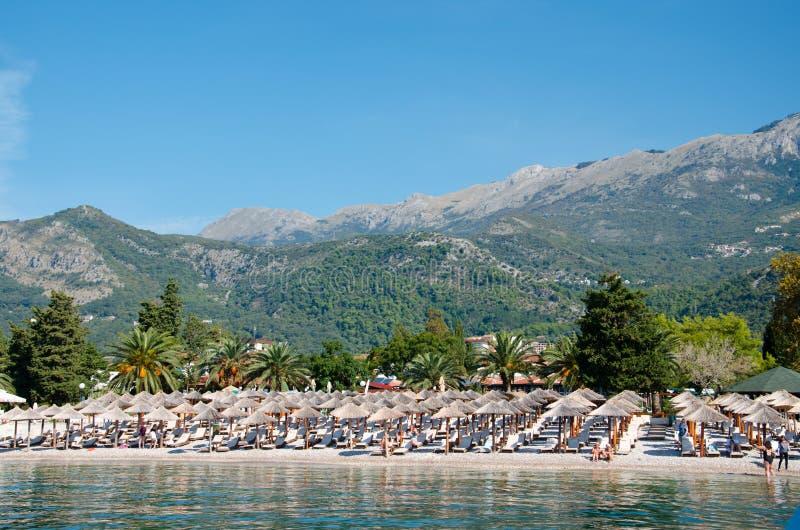 Beaches of Montenegro. Budva. Holidays royalty free stock photography