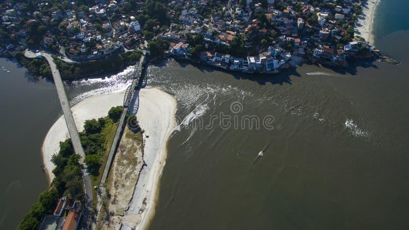 Beaches and paradisiacal places, wonderful beaches around the world, Restinga of Marambaia Beach, Rio de Janeiro, Brazil. South America. sandbank Marambaia royalty free stock photos