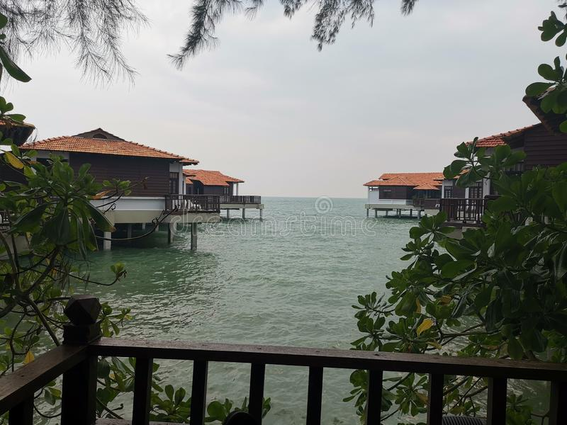 Beaches at Port Dickson. Port Dickson is a small town in Malaysia with beautiful beaches stock photography
