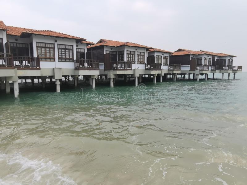Beaches at Port Dickson. Port Dickson is a small town in Malaysia with beautiful beaches stock photos