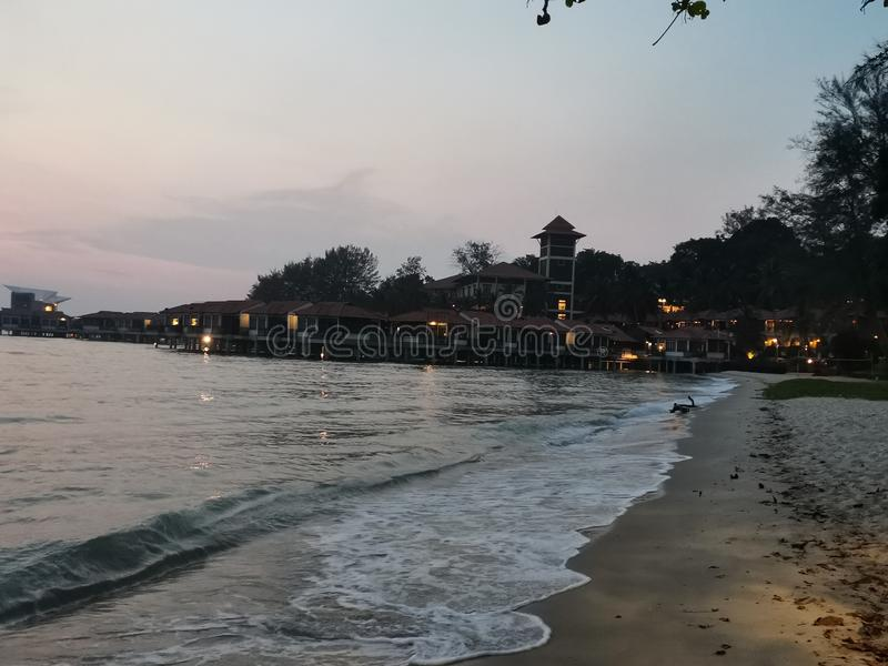Beaches at Port Dickson. Port Dickson is a small town in Malaysia with beautiful beaches royalty free stock image