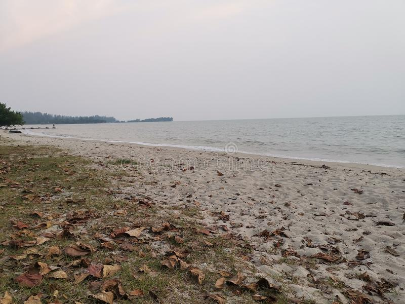 Beaches at Port Dickson. Port Dickson is a small town in Malaysia with beautiful beaches royalty free stock photo