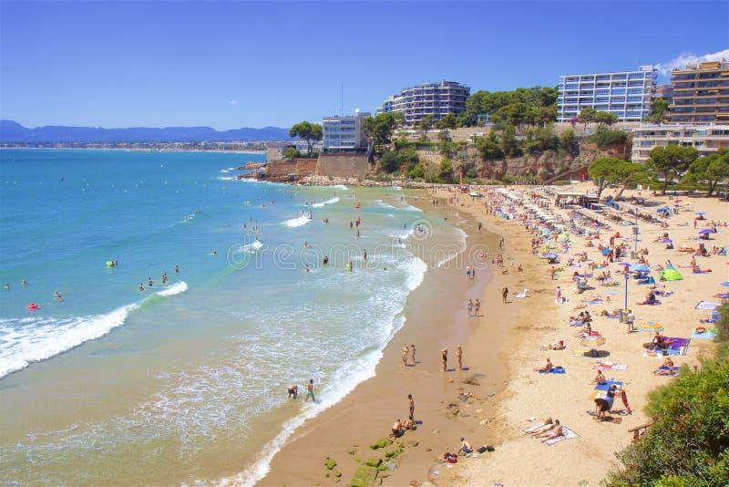 Beaches of Salou, Spain. Beautiful beaches of Salou, Catalunya, Spain stock image