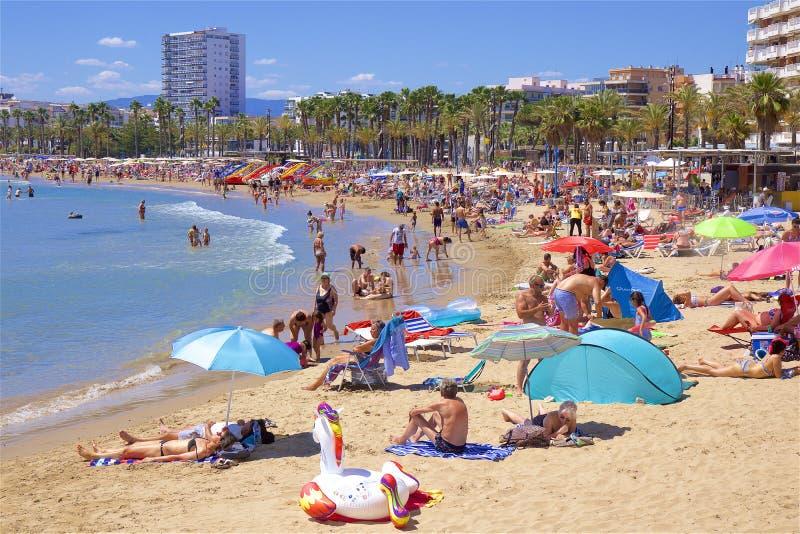 Beaches of Salou, Spain royalty free stock photos