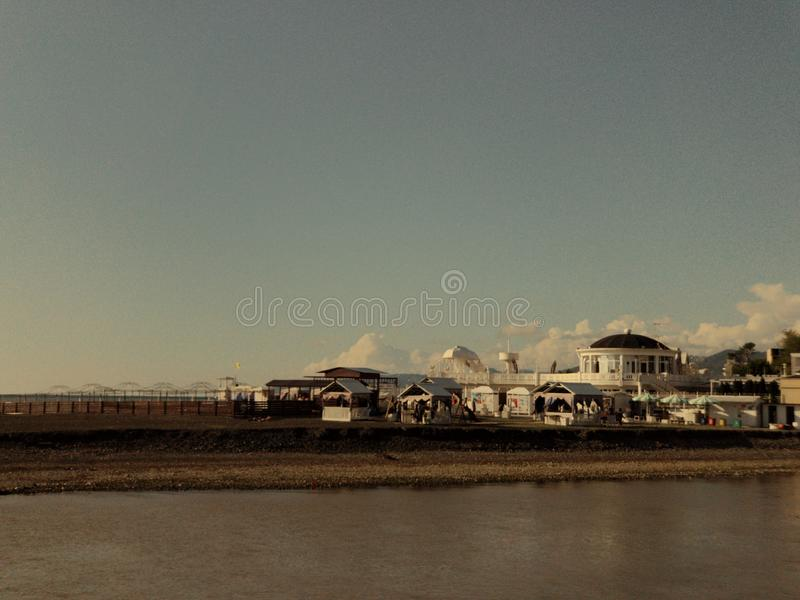 Beaches of Sochi royalty free stock images
