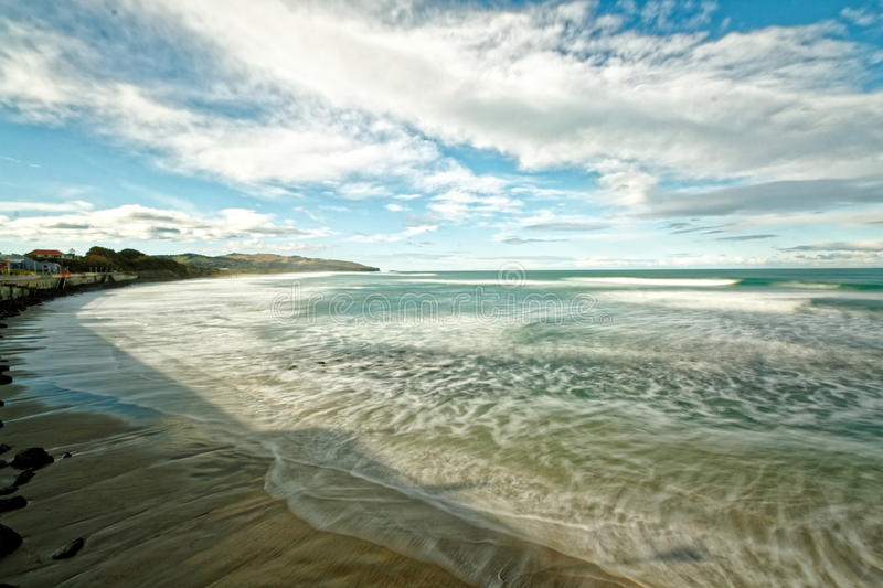 Beaches of St. Clair, Dunedin, New Zealand royalty free stock image