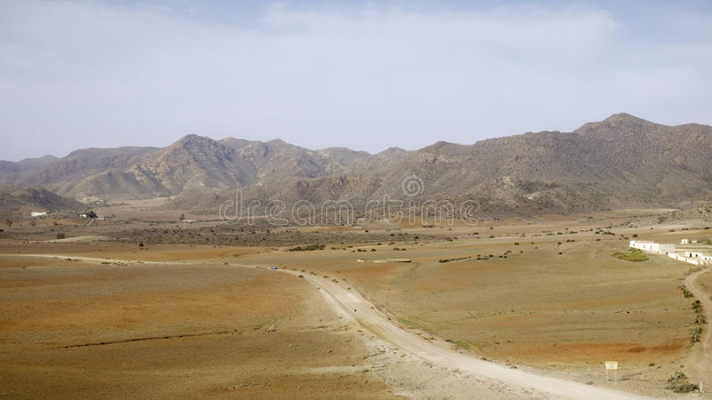Beaches of St. josè, cabo de gata, Andalusia, Spain, europe, view. View of the road leading to the famous beaches of St. jos royalty free stock images
