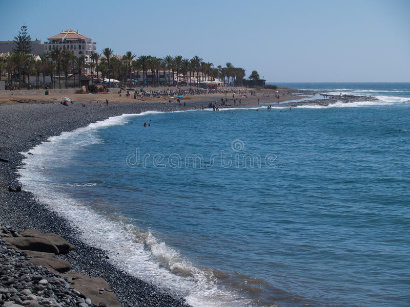 Beaches of Tenerife, Spain. Black beaches of Tenerife, Spain royalty free stock image