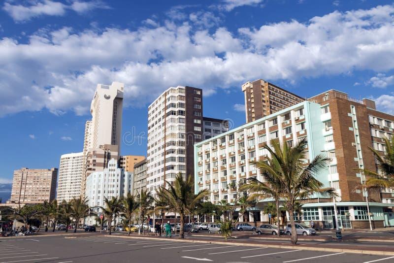 Beachfront guld- mil i Durban Sydafrika arkivfoto
