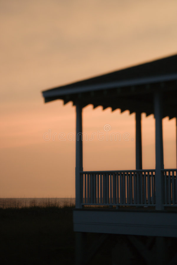 Beachfront porch royalty free stock images