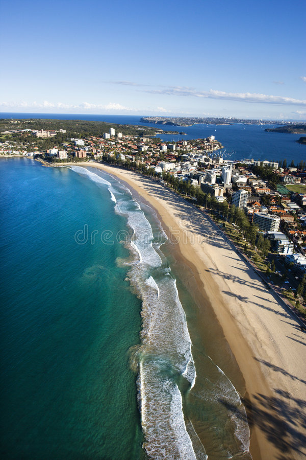 Beachfront property, Australia. stock photo