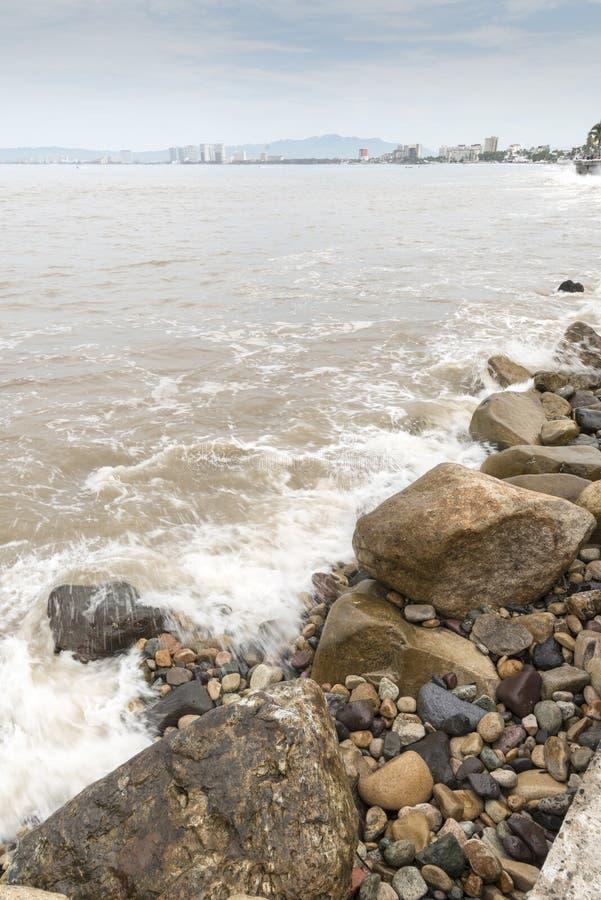 Beachfront Puerto Vallarta arkivbilder