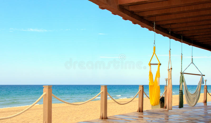 Beachfront view stock photos