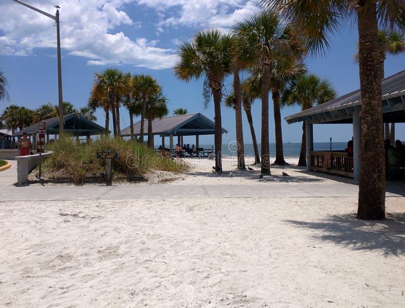 Beachfrontpaviljoenen op Golfkust Florida royalty-vrije stock foto
