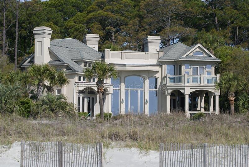 beachhouse royaltyfri bild