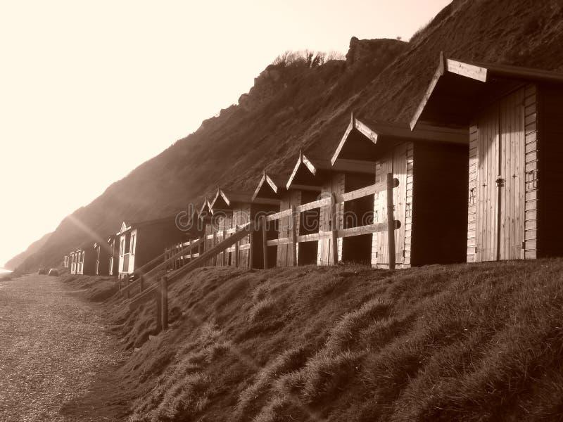 beachhuts arkivfoton