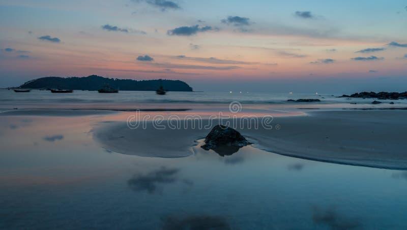 BeachMyanmar Ngapali royaltyfria bilder