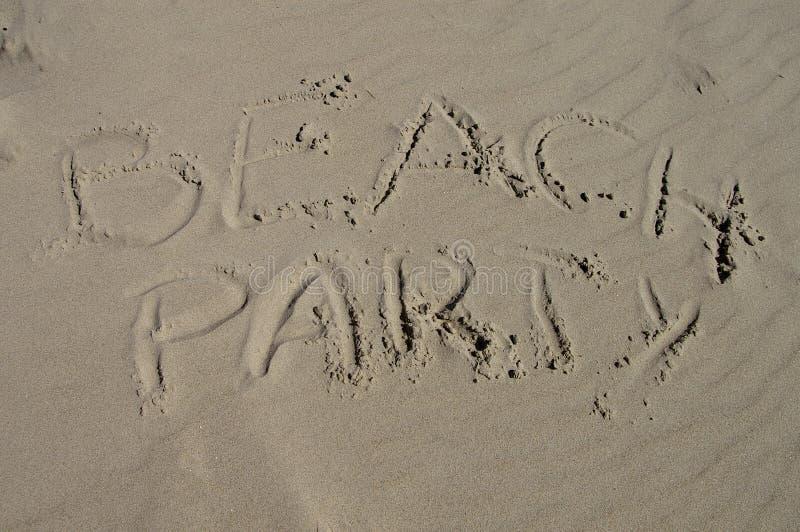 Beachparty foto de archivo