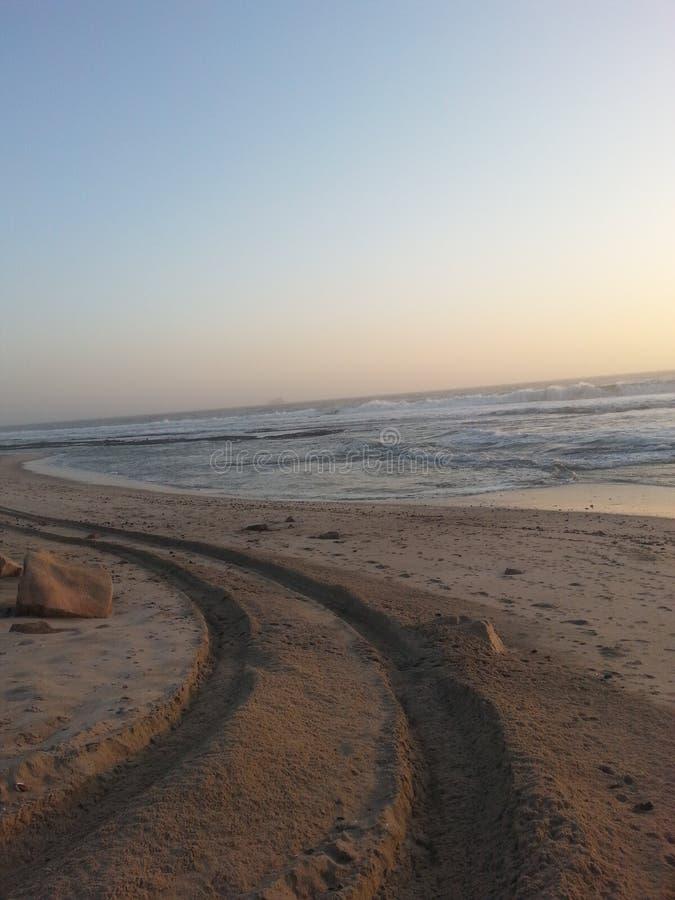 Beachroad image stock