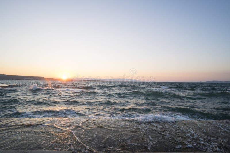 Beachscape in Izmir royalty-vrije stock foto