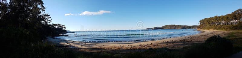 Beachscape sydostkust, Australien arkivbild