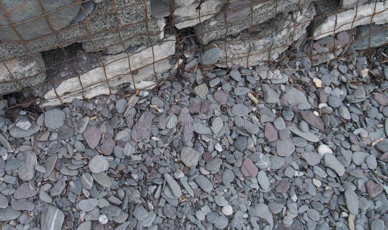Beachscapes - rots, water, zand & stenen stock fotografie