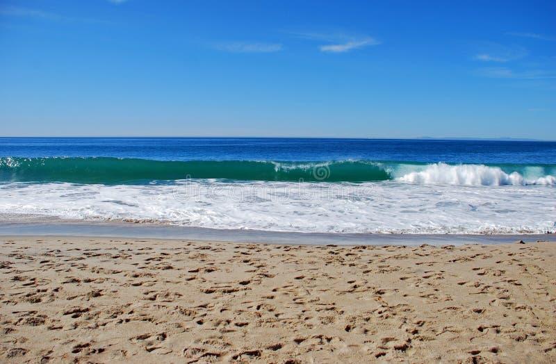 Beachside av den huvudsakliga stranden, Laguna Beach, Kalifornien arkivfoto