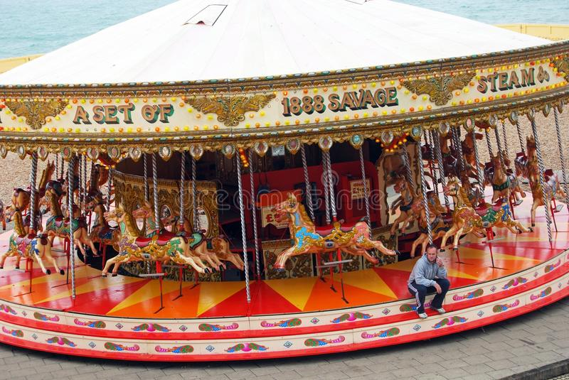 Beachside carousel, Brighton. royalty free stock photos