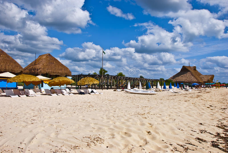Download Beachside Destination stock photo. Image of mexico, unbrellas - 12026572