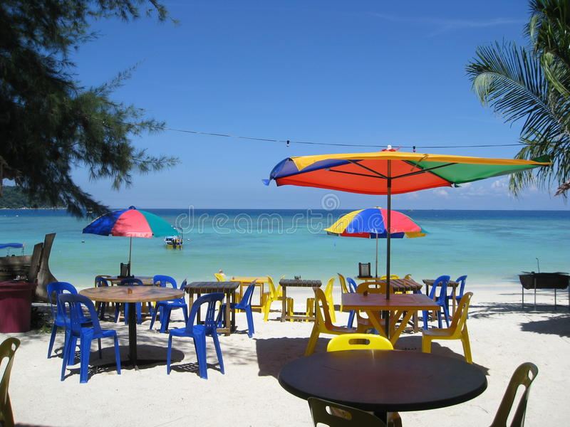 Beachside food royalty free stock photography
