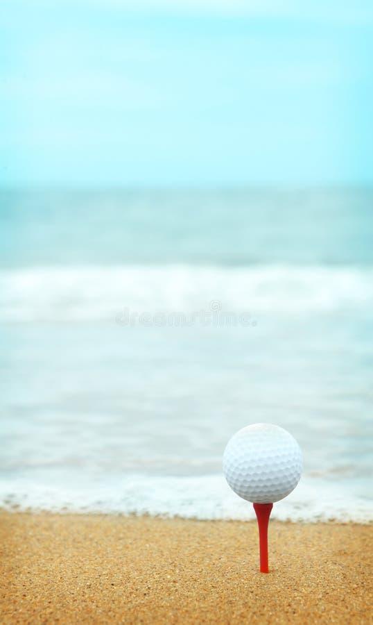 Beachside golf royaltyfri foto