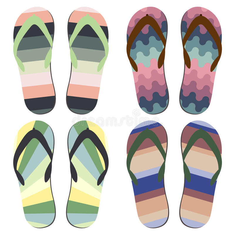 BeachSlippers illustrazione di stock