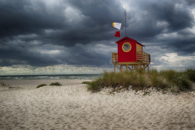 Beachtower royalty free stock photo