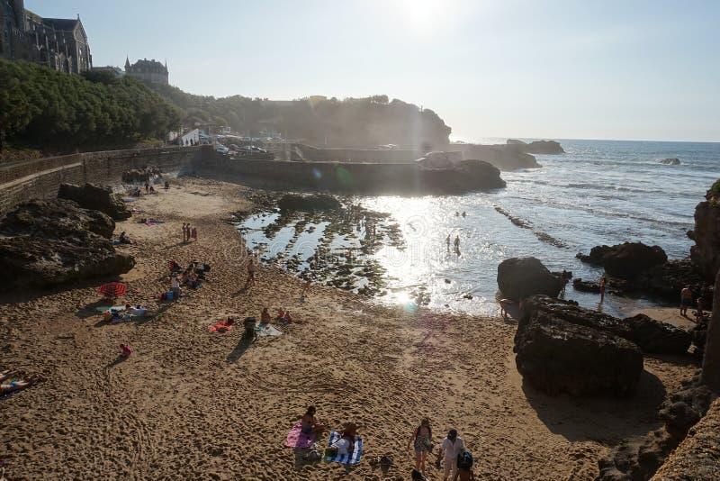 Beachview San Sebastian a Paese Basco, Spagna del Nord fotografie stock