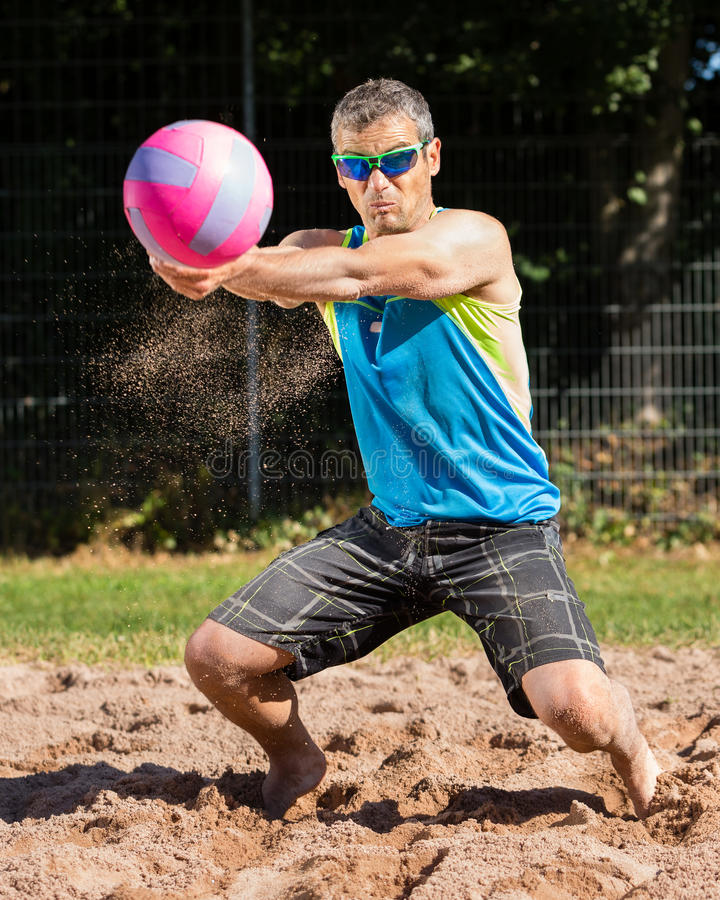 Download Beachvolleyballer stock image. Image of health, outdoors - 26329067
