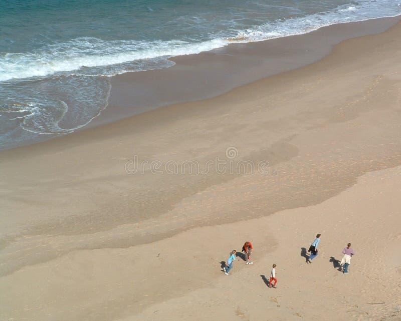 beachwalk royaltyfria bilder