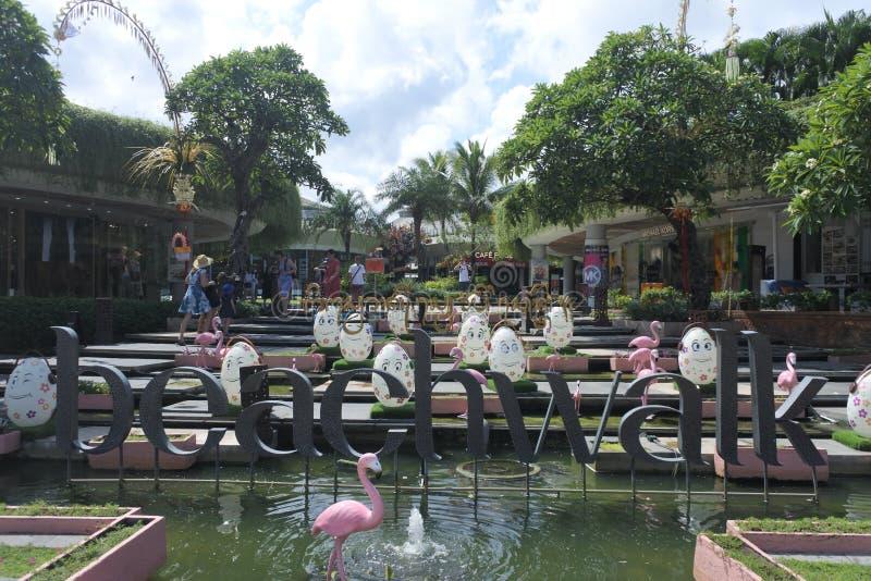 Beachwalk Shopping Centre Bali Indonesia royalty free stock images