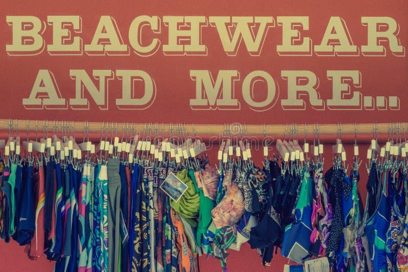Beachwear για την πώληση στοκ εικόνες