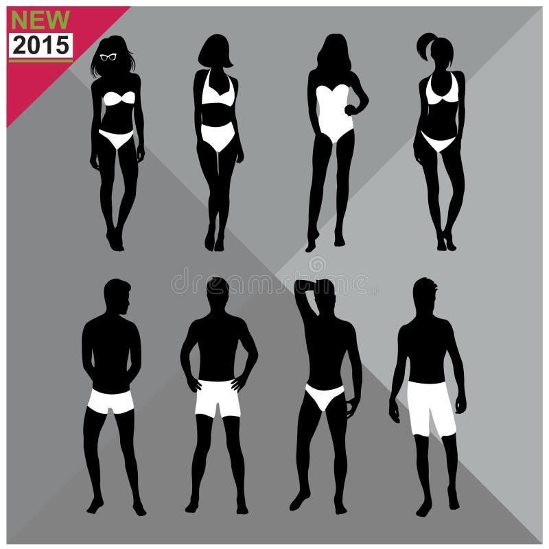 Download Beachwear, Swimwear Swimsuits Lata Ubioru Kobiet Mężczyzna/czernią Sylwetki Editable, Ustalony, Kolekcja Ilustracja Wektor - Ilustracja złożonej z niepowodzenia, broszura: 57672612
