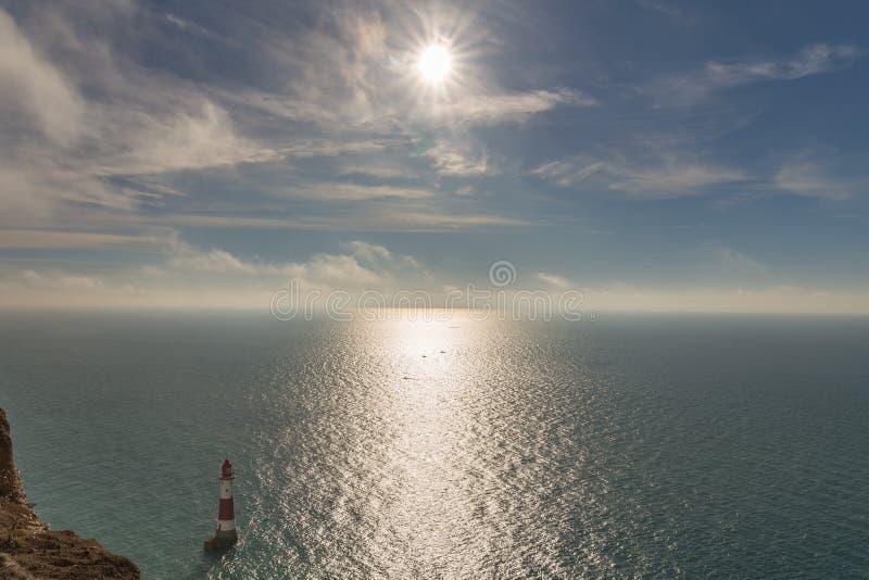 Beachy επικεφαλής φάρος, ανατολικό Σάσσεξ, UK στοκ εικόνες