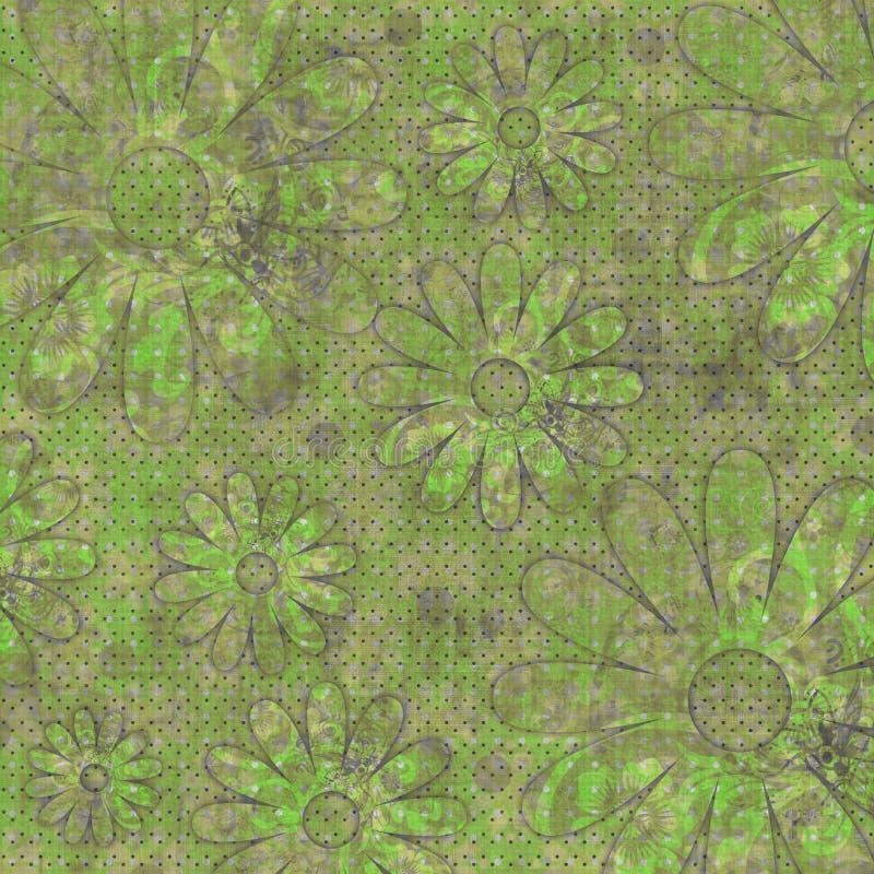beachy blom- zigensk scrapbook för bakgrund vektor illustrationer