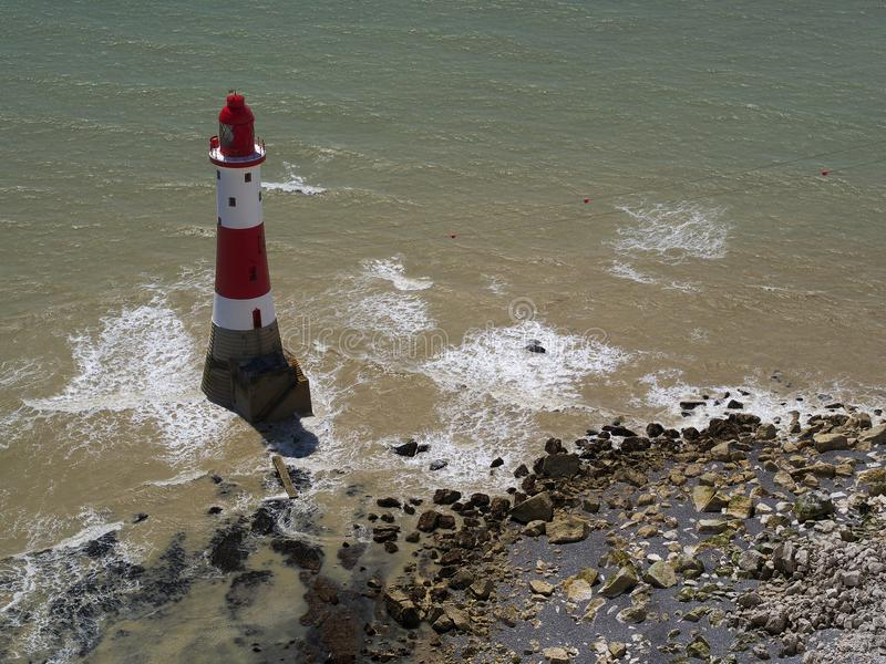 Beachy Head fyr, östliga Sussex, England royaltyfri fotografi