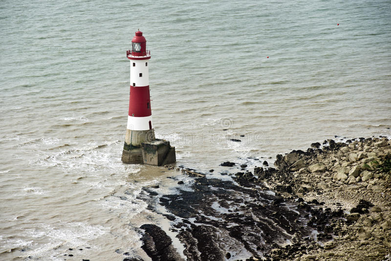 Beachy Head fyr royaltyfri bild