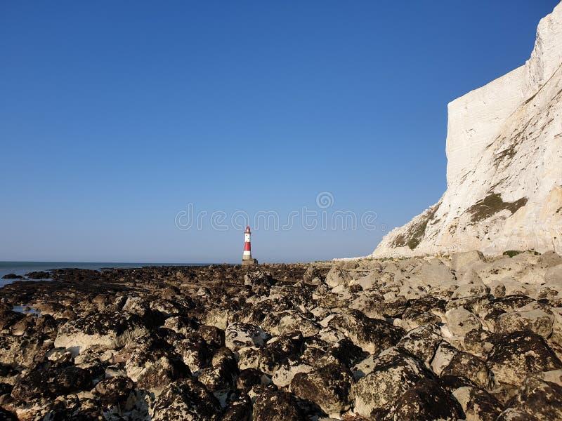 Beachy huvudfyr Eastbourne sussex arkivfoton